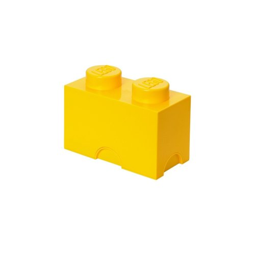 LEGO Brick 2 Knobs Stackable Storage Box, Bright Yellow, 2.6 Litre