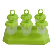 Cute Small Ice Pop Maker/Molds 7.5*4 CM Green-Set Of 6
