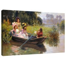 Canvas Print Le Poet Picture by Leon Girardet