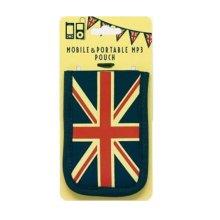 Mobile Phone Portable MP3 Pouch Antique Retro Union Jack Universal Soft Neoprene Cover Case UK GB Flag