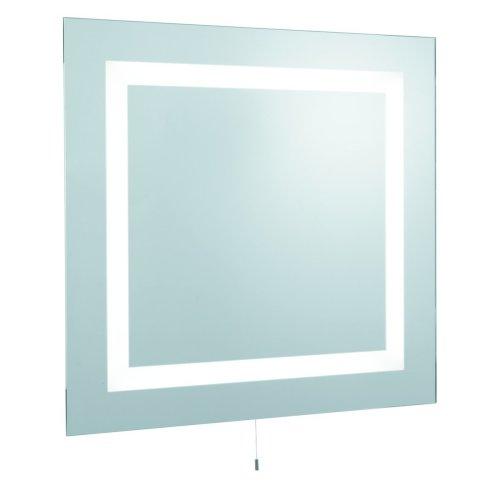 Modern Bathroom Illuminated Mirror With Pull Switch IP44 Rating