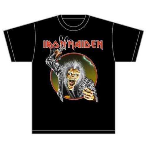 Rockoff Trade Men's Eddie Hook T-shirt, Black, X-large -  iron maiden t shirt official book souls trooper killers tour band logo mens