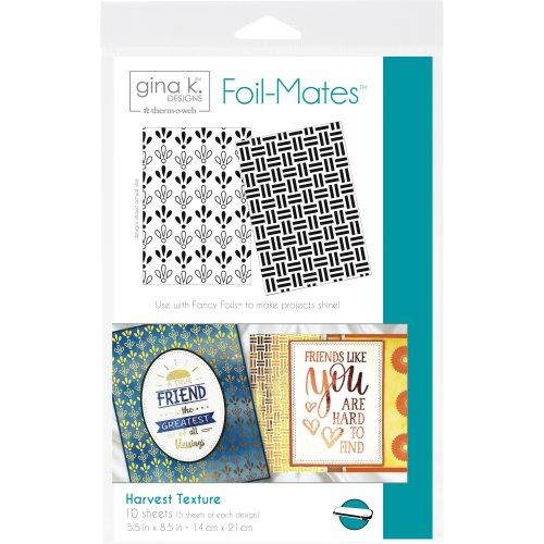 "Gina K Designs Foil-Mates Background 5.5""X8.5"" 10/Pkg-Harvest Texture"