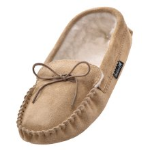 Mens Sheepskin Suede Moccasin Slippers