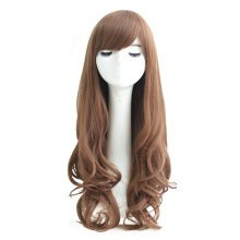 Linen Long Curly Wavy Glamour Hair Wig Fashion Bob + Wig Cap + Wig Comb