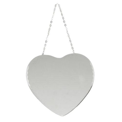 Hestia Heart Shaped Mirror With Chain