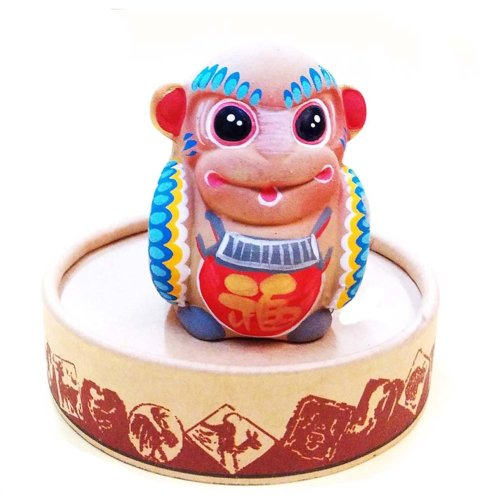 Clay Chinese Characteristic Toy Figurines Clay Sculpture Zodiac Ornaments