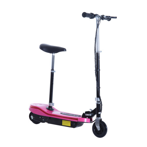 Homcom Kids E Scooter Ride On Folding Electric Bike Adjustable w/ Rechargeable Battery (Pink)