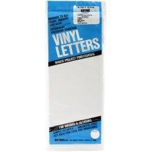 "Permanent Adhesive Vinyl Letters 6"" 94/Pkg-White"
