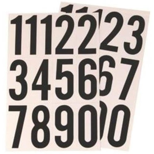 Hy Ko Products MM-4N 3 in. Black On White Numbers
