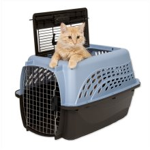 """Petmate 2 Door Top Load Kennel 24"""" up to 15lbs Ash Blue/Coffee"""
