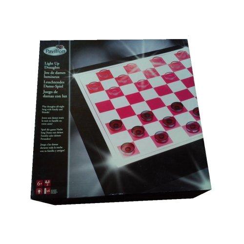 Illuminated Draughts / Checkers Set