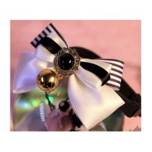 Pet Accessories Bow - Cats and Dogs Tie Bells-White Black