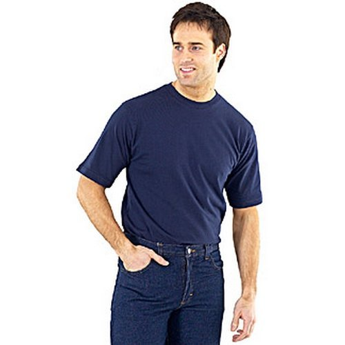 Click CLCTSHWNL T Shirt Heavy Cotton Navy Blue Large