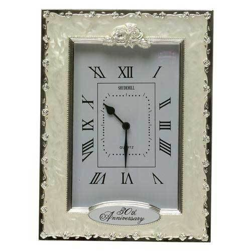 Celebration Pearl 30th Anniversary Clock by Shudehill giftware