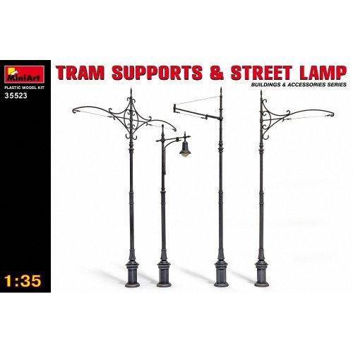 Min35523 - Miniart 1:35 - Tram Supports & Street Lamps