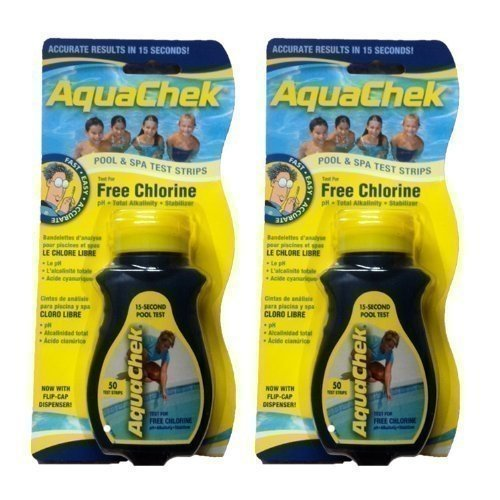 2x AquaChek 4 in 1 Test Strips - Swimming Pool and Spa Test Strips - Yellow