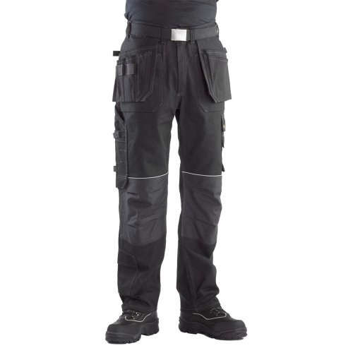 Buckler Buckskinz Work Trousers with Premium Black Stretch Belt (Various Sizes)