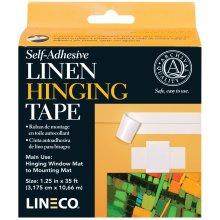 "Lineco Self-Adhesive Linen Hinging Tape-White 1.25""X35'"