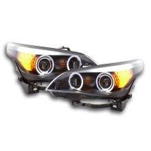 Headlight BMW serie 5 E60/E61 Year 03-07 black