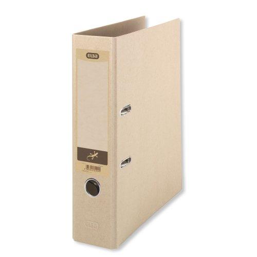Elba 100202208 Folder A4 8 CM Spine Width with Affixed Spine Label, beige
