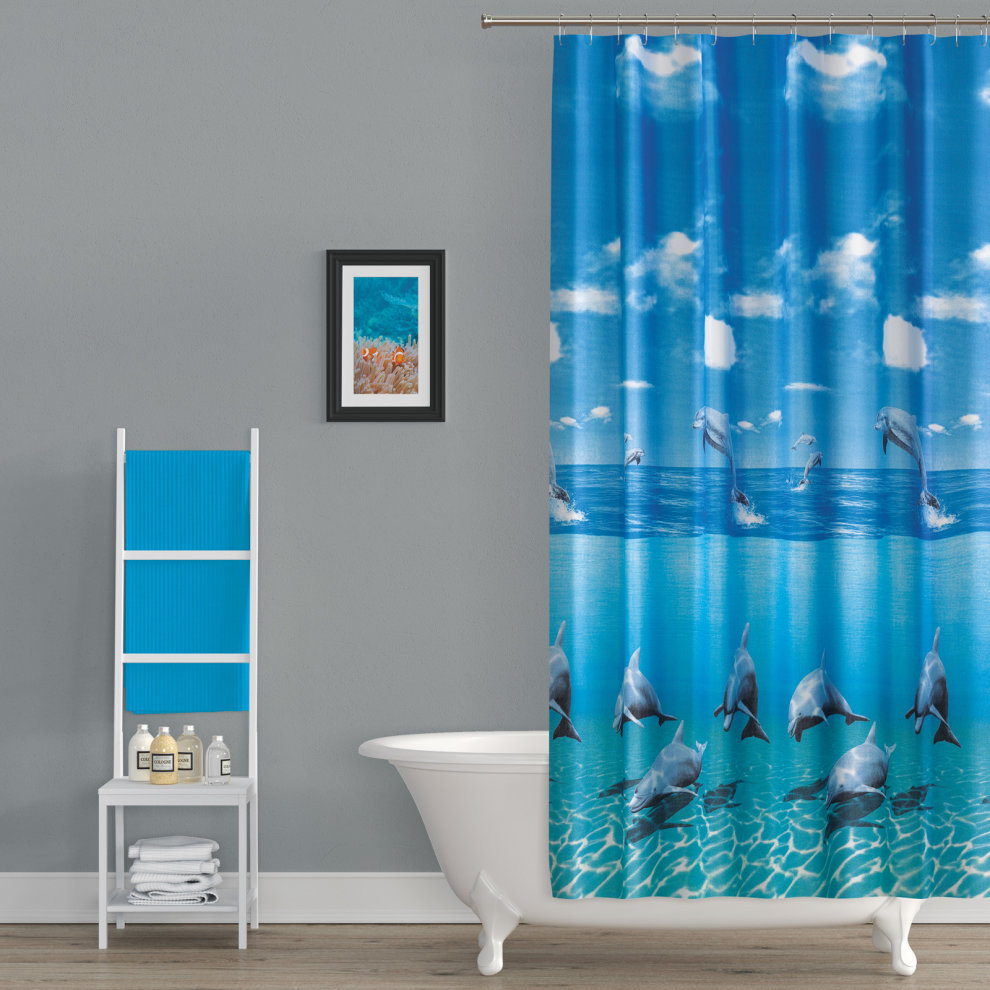 Tropik Home Extra Long And Wide Shower Curtain