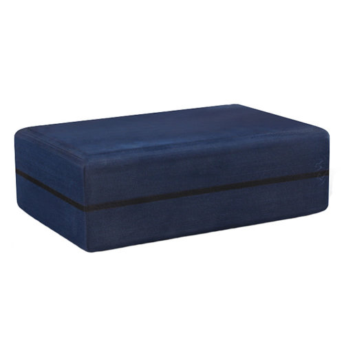 High-Density Waterproof Yoga Block Blocks Brick Yoga Mat Accessory Gym - Navy