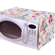 Pastoral Floral Print Microwave Oven Dustproof Cover Dust Cover Elephant